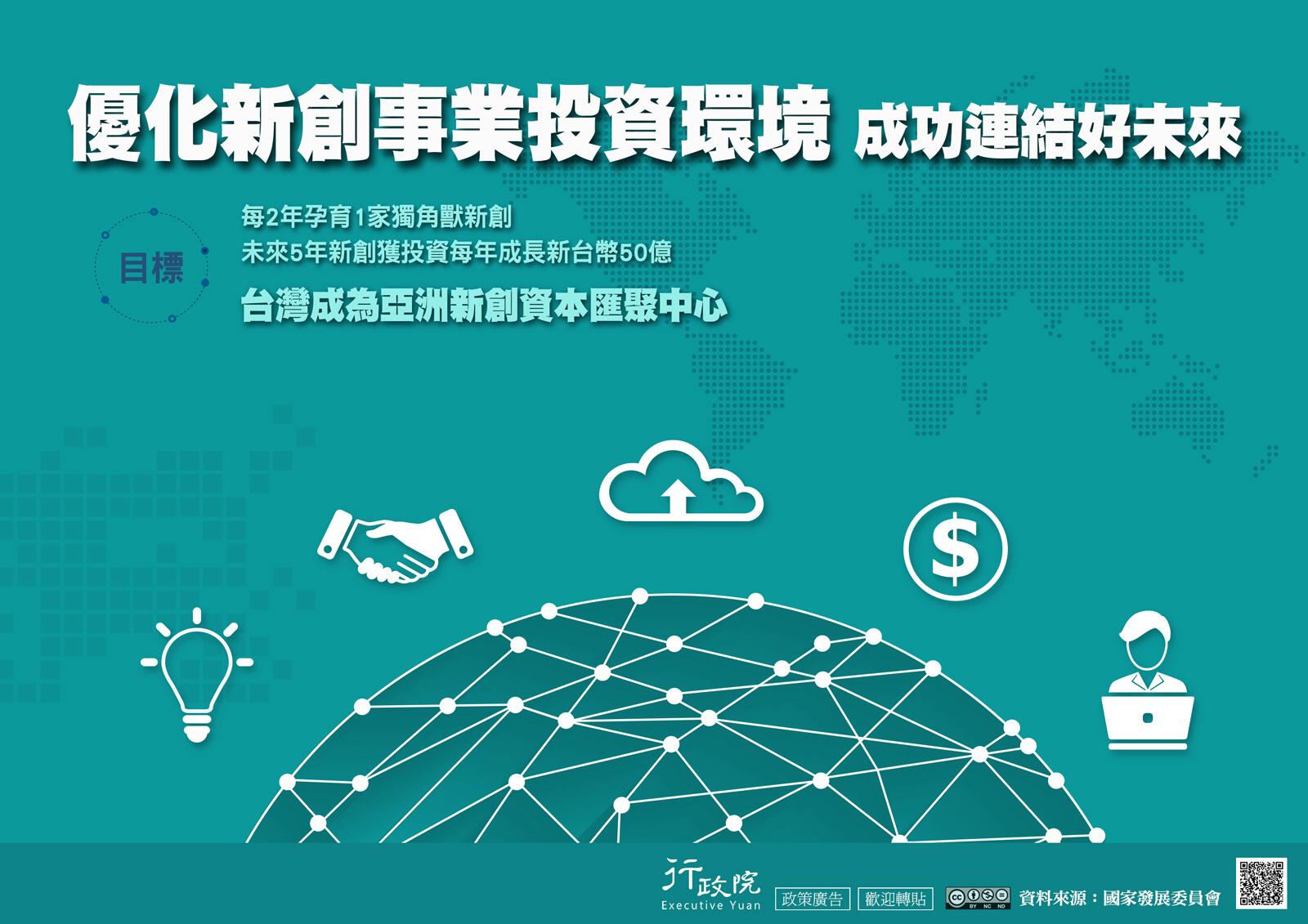 優化新創事業投資環境