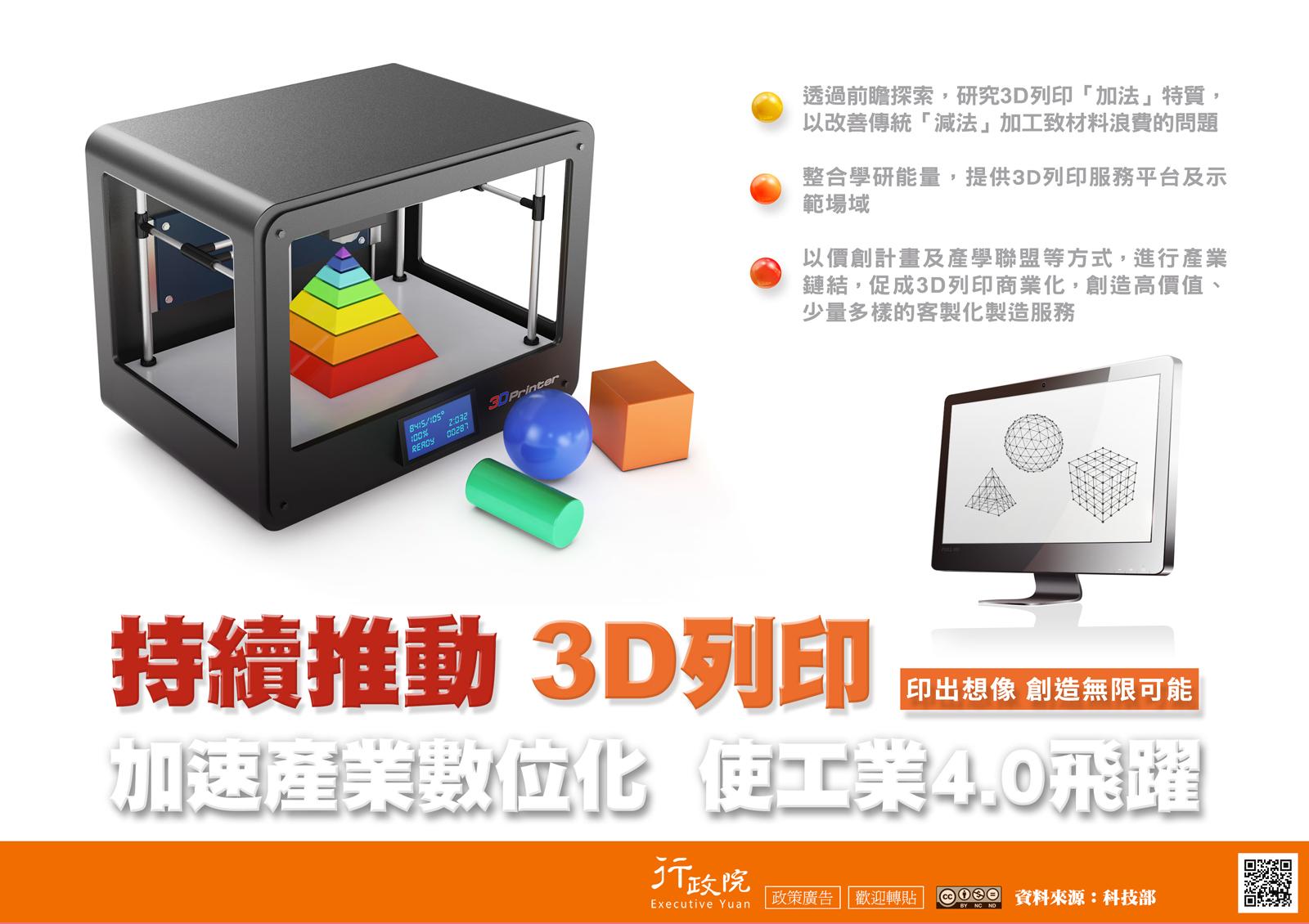 持續推動 3D 列印